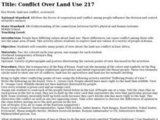 Conflict Over Land Use 217 Lesson Plan