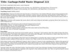 Garbage/Solid Waste Disposal Lesson Plan