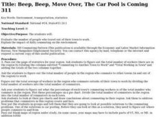 The Car Pool is Coming Lesson Plan