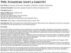 Ecosystems Aren't a Game Lesson Plan