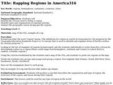 Rapping Regions in America Lesson Plan