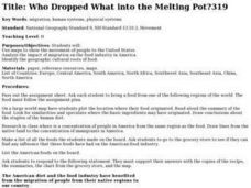 Who Dropped What into the Melting Pot? Lesson Plan