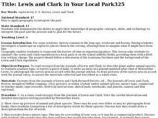 Lewis and Clark in Your Local Park Lesson Plan