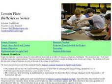 Batteries in Series Lesson Plan