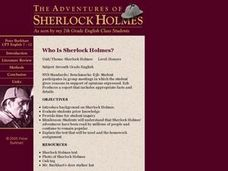 Who Is Sherlock Holmes? Lesson Plan