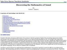 Discovering the Mathematics of Sound Lesson Plan
