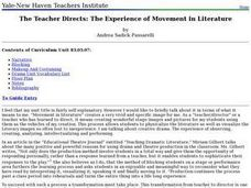 The Teacher Directs: The Experience of Movement in Literature Lesson Plan