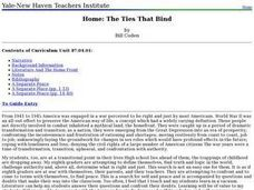 Home: The Ties That Bind Lesson Plan