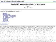 Family Life Among the Ashanti of West Africa Lesson Plan