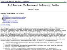 Body Language? The Language of Contemporary Fashion Lesson Plan