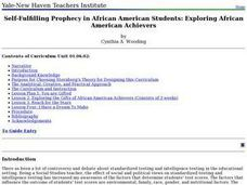 Self-Fulfilling Prophecy in African American Students: Exploring African American Achievers Lesson Plan