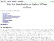 Eating Disorders and Adolescents: Conflict of Self Image Lesson Plan