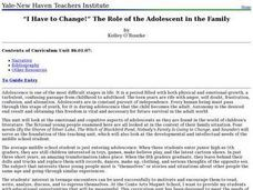 I Have to Change!? The Role of the Adolescent in the Family Lesson Plan