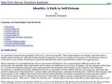 Identity: A Path to Self-Esteem Lesson Plan