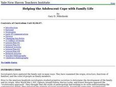 Helping the Adolescent Cope with Family Life Lesson Plan