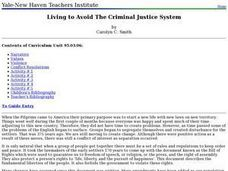 Living to Avoid The Criminal Justice System Lesson Plan