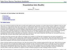 Translation Into Reality Lesson Plan