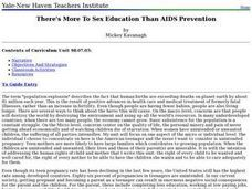 There's More To Sex Education Than AIDS Prevention Lesson Plan