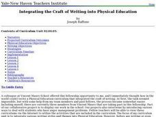 Integrating the Craft of Writing into Physical Education Lesson Plan