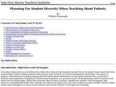 Planning For Student Diversity When Teaching About Puberty Lesson Plan