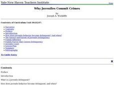 Why Juveniles Commit Crimes Lesson Plan