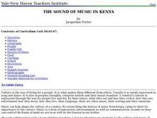 The Sound of Music in Kenya Lesson Plan