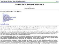 African Myths and What They Teach Lesson Plan