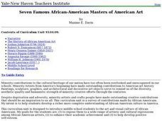 Seven Famous African-American Masters of American Art Lesson Plan