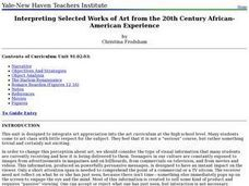 Interpreting Selected Works of Art from the 20th Century African-American Experience Lesson Plan