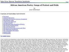 African American Poetry: Songs of Protest and Pride Lesson Plan