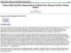 Prince Hall and His Organization of Black Free Masons in the United States Lesson Plan