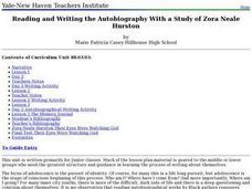 Reading and Writing the Autobiography With a Study of Zora Neale Hurston Lesson Plan
