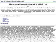 The Stranger Redeemed: A Portrait of a Black Poet Lesson Plan