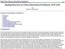 Immigration into an Urban Industralized Northeast: 1879-1914 Lesson Plan