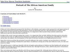 Portrait of The African American Family Lesson Plan