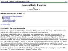 Communities in Transition Lesson Plan