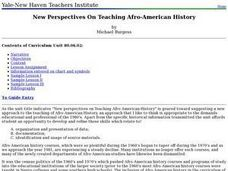 New Perspectives On Teaching Afro-American History Lesson Plan