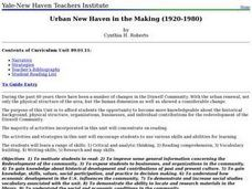 Urban New Haven in the Making (1920-1980) Lesson Plan