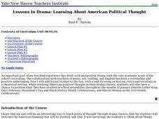Lessons in Drama: Learning About American Political Thought Lesson Plan