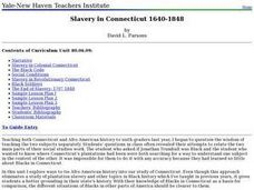 Slavery in Connecticut 1640-1848 Lesson Plan