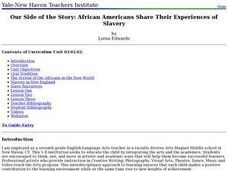 Our Side of the Story: African Americans Share Their Experiences of Slavery Lesson Plan