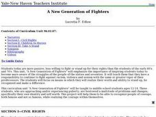 A New Generation of Fighters Lesson Plan