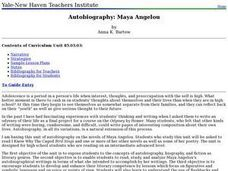 Autobiography: Maya Angelou Lesson Plan