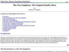 The City Symphony- The Original Reality Show Lesson Plan