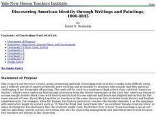Discovering American Identity through Writings and Paintings, 1800-1845 Lesson Plan
