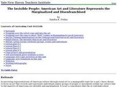 The Invisible People: American Art and Literature Represents the Marginalized and Disenfranchised Lesson Plan