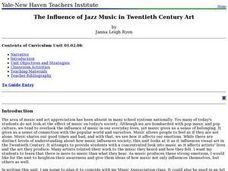 The Influence of Jazz Music in Twentieth Century Art Lesson Plan