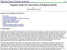 Egyptian Tomb Art: Expressions of Religious Beliefs Lesson Plan