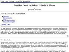 Teaching Art to the Blind / A Study of Chairs Lesson Plan