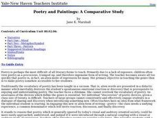 Poetry and Paintings: A Comparative Study Lesson Plan